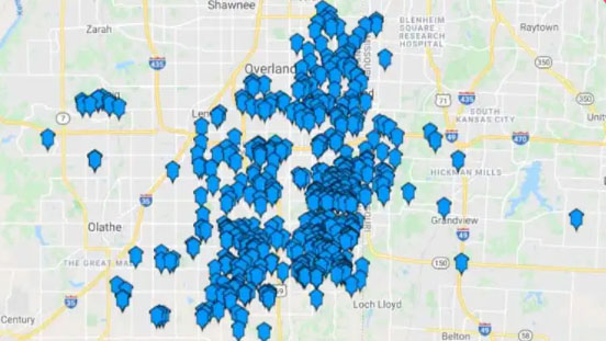 heartland service area map